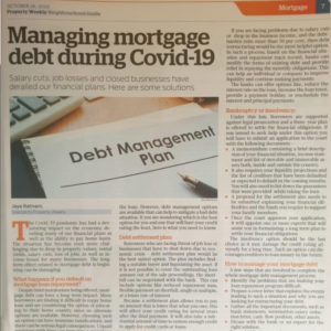 Debt Management experts from Freed Financial Services have to say on Gulf News - Property weekly. Salary Cuts, Job losses and closed businesses have derailed our financial plans. If you find yourself in any similar situations, you can seek specialist advice.